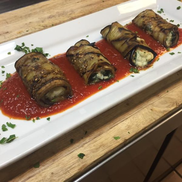 Eggplant Rollatini with Ricotta and Spinach